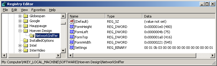 Network Sniffer Setting